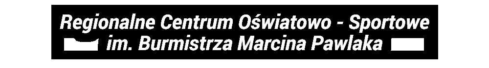 Logo Regionalnego Centrum Oświatowo Sportowego im. Burmistrza Marcina Pawlaka